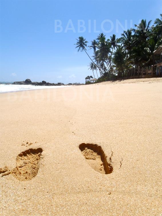 Playa al sur de Sri Lanka
