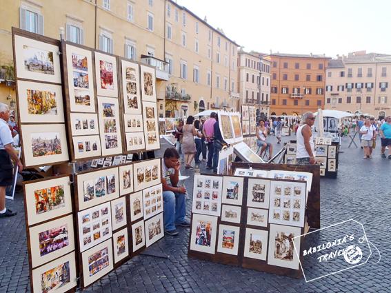Pintores En Piazza Navona