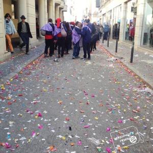 calles llenas de caramelos
