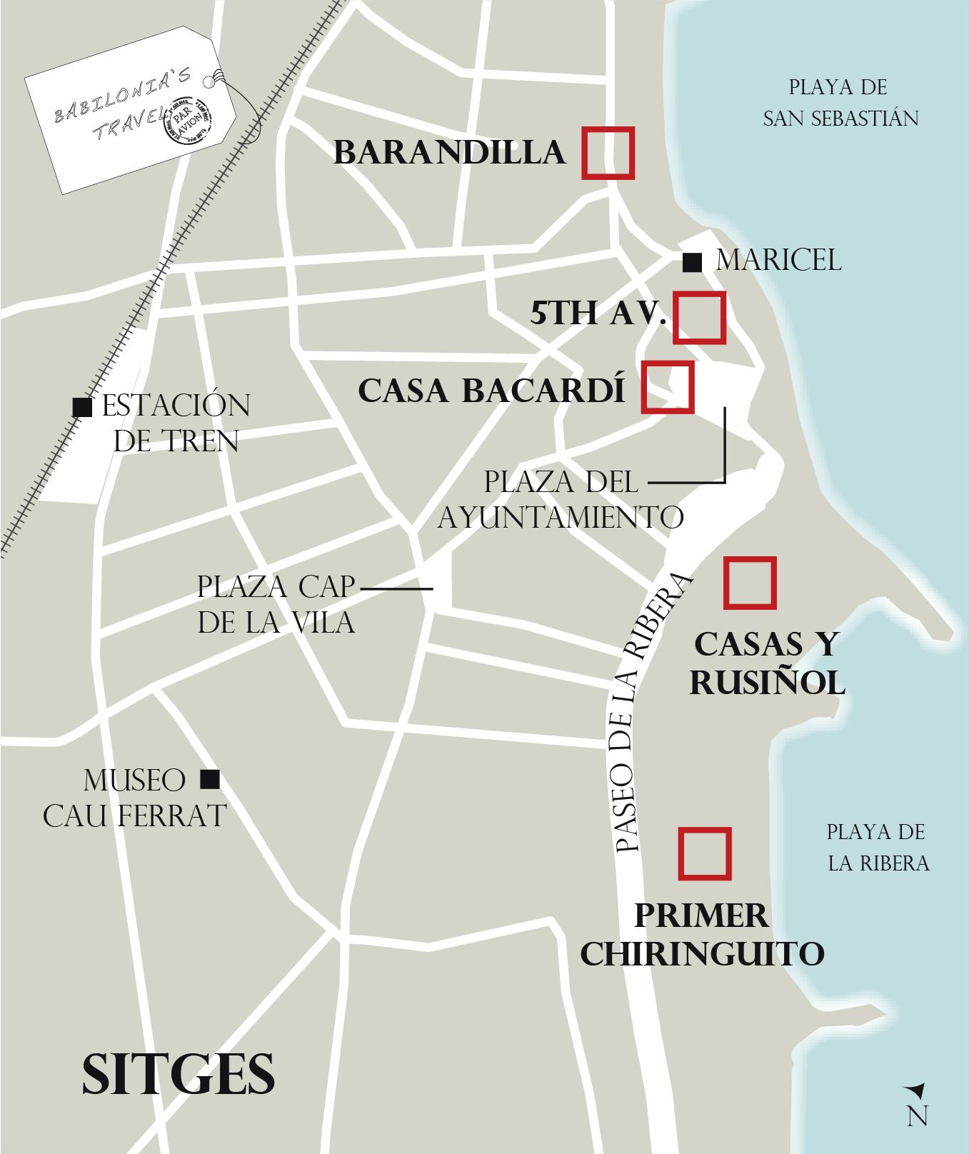 Mapa De Sitges