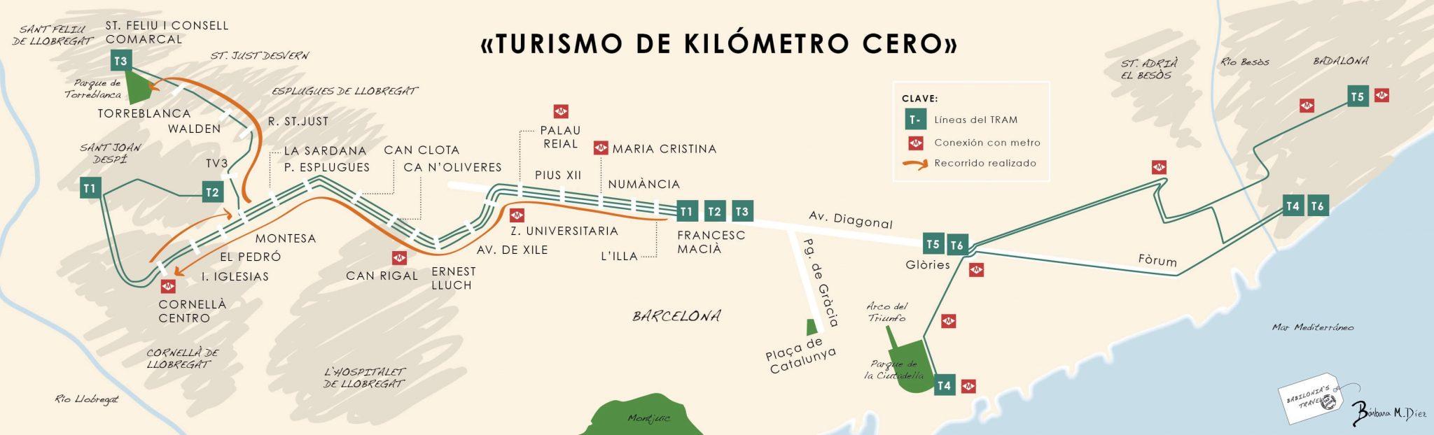 mapa TRAM
