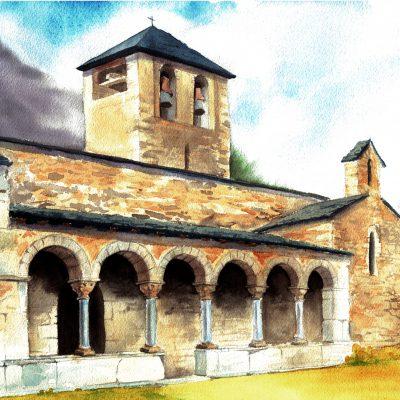 Sant-Jaume-de-Queralbs-(acuarela)
