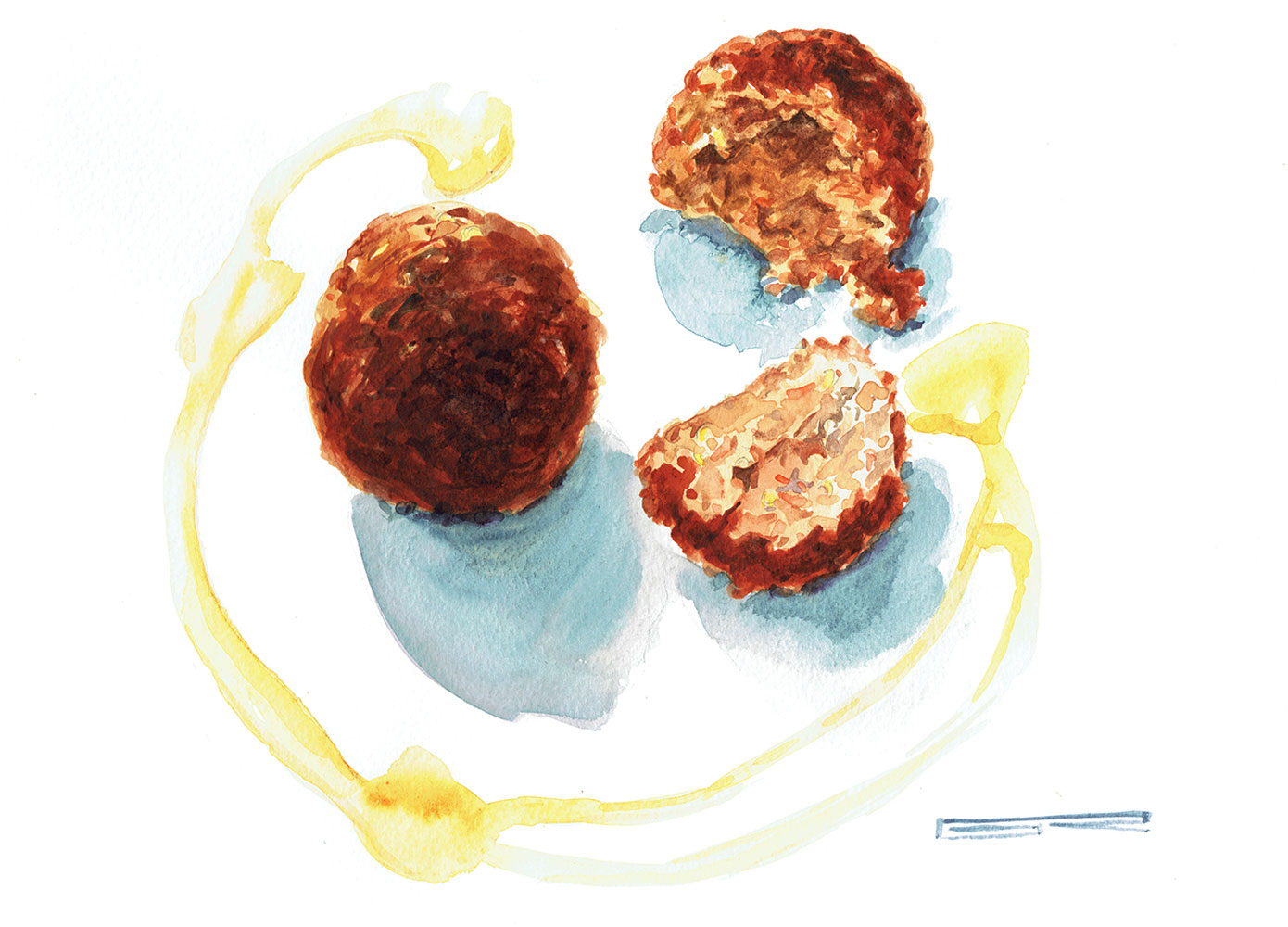 Albóndigas Ternera Pirenaica Con Salfaina (durante Todo El Showcooking Hubo Opción Vegana, En Este Caso, Con Quinoa)