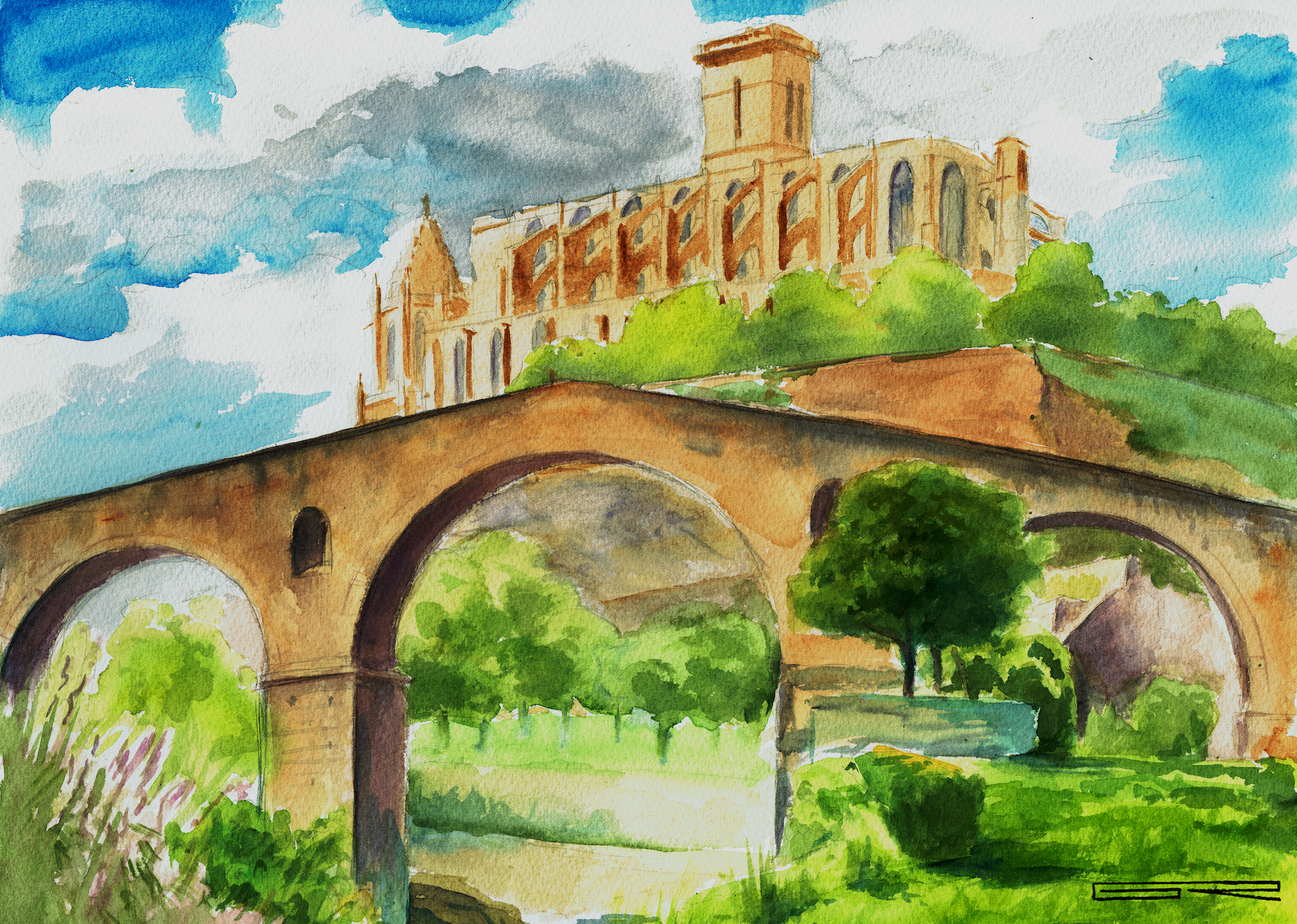 Manresa (puente y Seu)